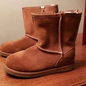 Cherokee Kids Tan SUEDE Winter Boots, Size 12